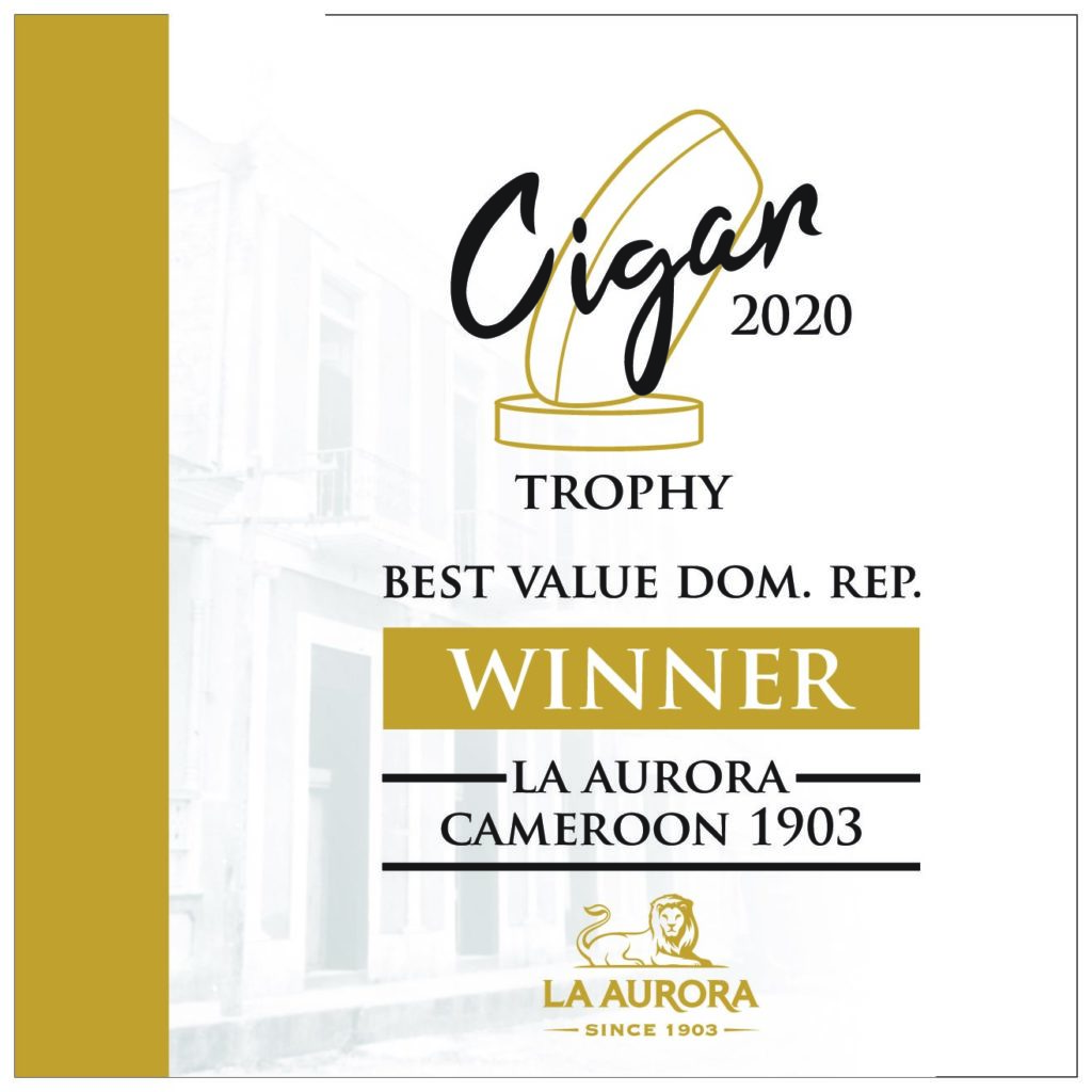"La Aurora Cameroon 1903 – победитель в категории ""Best Value"" в конкурсе Cigar Trophy 2020!"